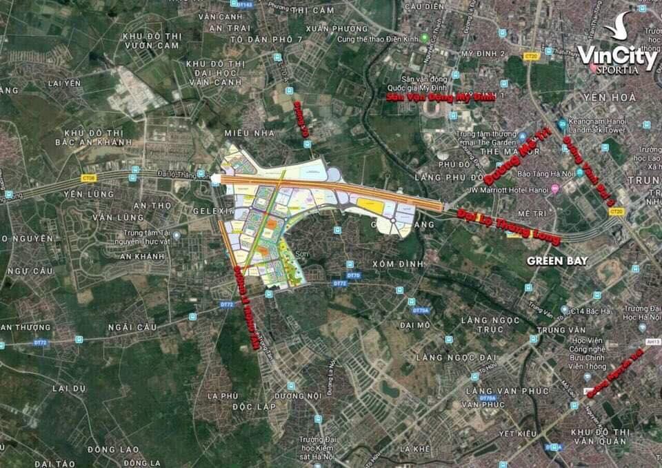 Bản đồ vị trí VinCity Sportia Tây Mỗ